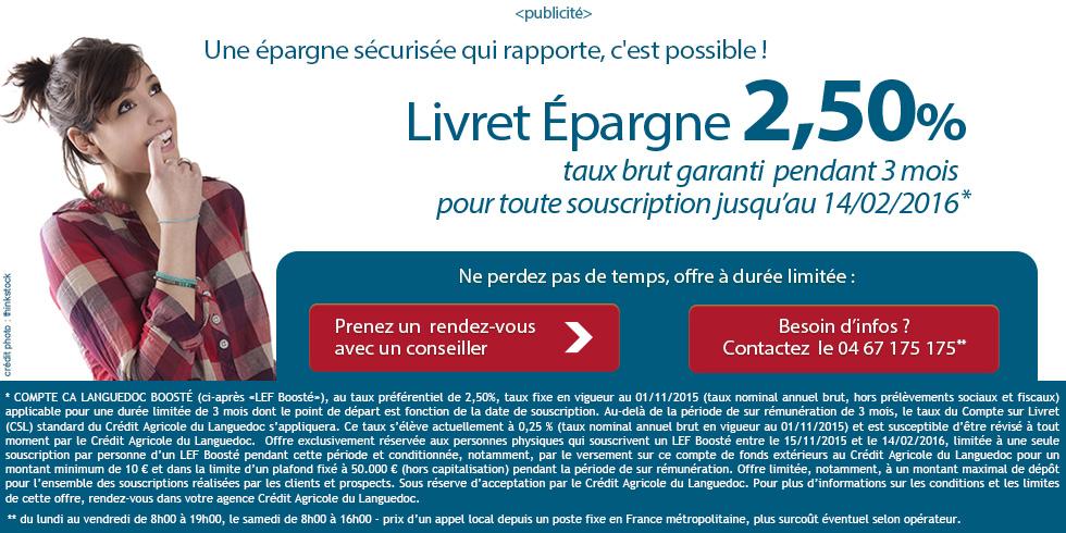 Credit Agricole Languedoc Livret Booste Ca Languedoc 2015
